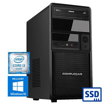 COMPUGEAR Premium PC8100-8SH (met Core i3 8100, 8GB RAM, 120GB SSD en 1TB HDD)