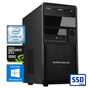 COMPUGEAR Deluxe DC8400-16SH-G1050 (met Core i5 8400, 16GB RAM, 240GB SSD, 1TB HDD en GTX 1050)