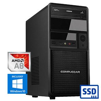 COMPUGEAR Premium PA9600-8SH (met A8 9600, 8GB RAM, 120GB SSD en 1TB HDD)