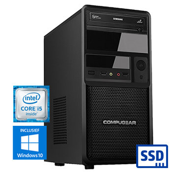 COMPUGEAR Premium PC8400-8SH (met Core i5 8400, 8GB RAM, 120GB SSD en 1TB HDD)