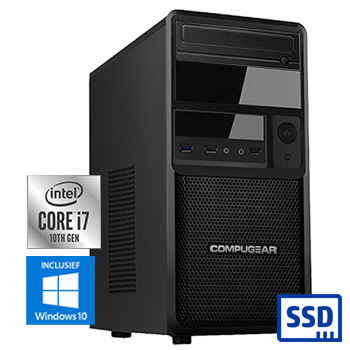 COMPUGEAR Premium PC7-16R250M1H (met Core i7 10700, 16GB RAM, 250GB M.2 SSD en 1TB HDD)