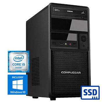 COMPUGEAR Premium PC8400-8SH (met Core i5 9400, 8GB RAM, 120GB SSD en 1TB HDD)