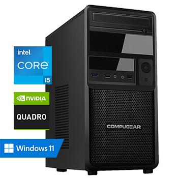 COMPUGEAR Creator CC5F-16R1000M-T600 (met Core i5 10400F, 16GB RAM, 1000GB M.2 SSD en Quadro T600)