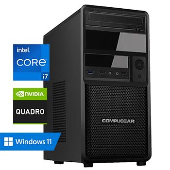 COMPUGEAR Creator CC7F-32R1000M-T1000 (met Core i7 10700F, 32GB RAM, 1000GB M.2 SSD en Quadro T1000)