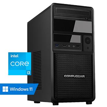COMPUGEAR Premium PC3-8R250M1H (met Core i3 10100, 8GB RAM, 250GB M.2 SSD en 1TB HDD)