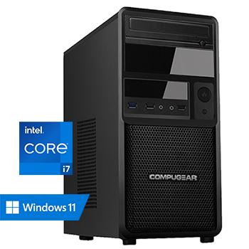 COMPUGEAR Deluxe DC7-64R500M4H (met Core i7 10700, 64GB RAM, 500GB M.2 SSD en 4TB HDD)