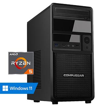 COMPUGEAR Deluxe DR5G-32R500M2H (met Ryzen 5 5600G, 32GB RAM, 500GB M.2 SSD en 2TB HDD)