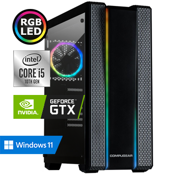 COMPUGEAR Gamer GC5F-16250M1H-G60 (met Core i5 10400F, 16GB RAM, 250GB M.2 SSD, 1TB HDD en GTX 1660)