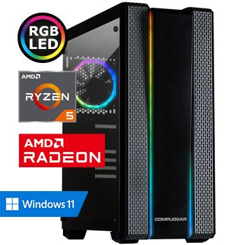 COMPUGEAR Gamer GR5X-16250M1H-6600XT (met Ryzen 5 5600X, 16GB RAM, 250GB M.2 SSD, 1TB HDD en RX 6600 XT)