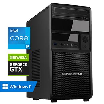 COMPUGEAR Allround AC5F-16R250M1H-G50 (met Core i5 10400F, 16GB RAM, 250GB M.2 SSD, 1TB HDD en GTX 1650)