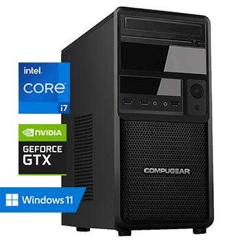 COMPUGEAR Allround AC7F-16R250M1H-G50 (met Core i7 10700F, 16GB RAM, 250GB M.2 SSD, 1TB HDD en GTX 1650)