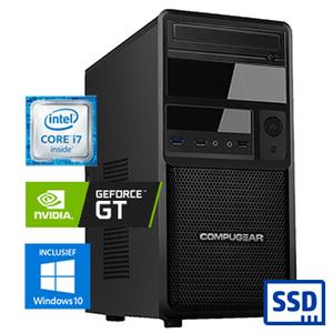 COMPUGEAR Deluxe DC7F-16R250M1H-G30 (met Core i7, 16GB RAM, 250GB M.2 SSD, 1TB HDD en GT 1030)